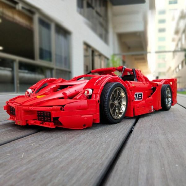 13085 Motor Function Car The 1 8 Red FXX Racing Sport Car Set 2 4Ghz APP 1 - MOULD KING