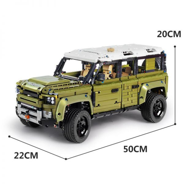 DHL Mould King 13175 2668Pcs Technic Car Series 42110 Land Defender Off road Rover Vehicle Building - MOULD KING