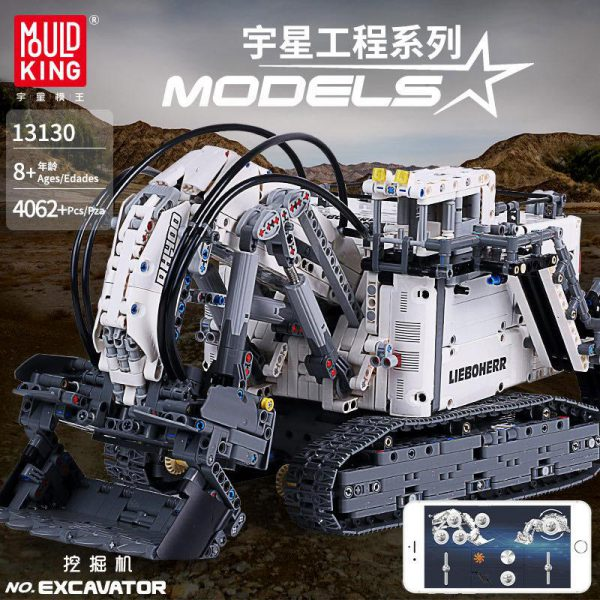 IN LAGER Technic serie 13130 Liebherrs Terex RH400 Bagger R 9800 Motor Auto Modell Bausteine Ziegel - MOULD KING