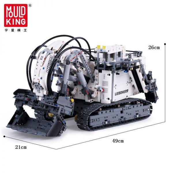 IN LAGER Technic serie 13130 Liebherrs Terex RH400 Bagger R 9800 Motor Auto Modell Bausteine Ziegel 4 - MOULD KING