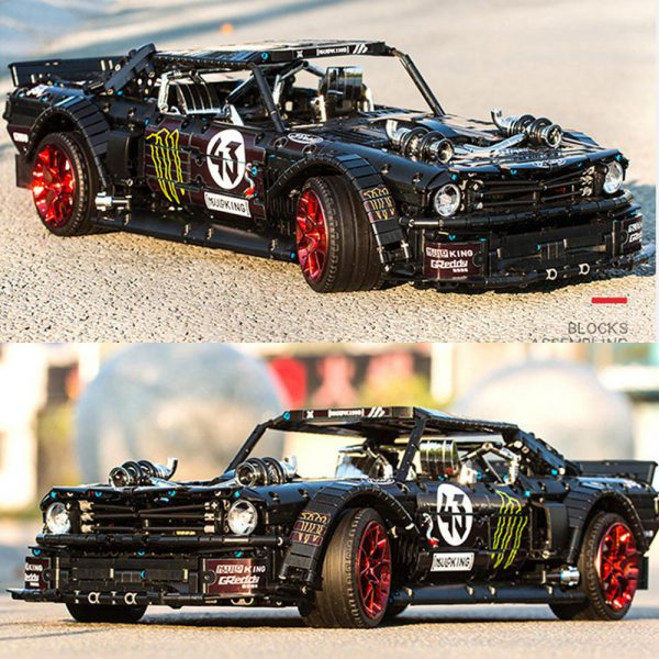 IN STOCK Ford Mustang Hoonicorn RTR V2 2943Pcs Racing Car Technic MOC 22970 20102 13108 building - MOULD KING