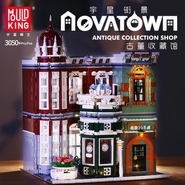 MOULD KING MOC Street View Creator Series Antique Collection Shop Building Blocks Bricks For Children Toys - MOULD KING