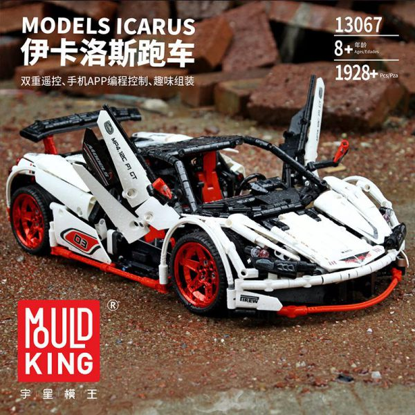 Remote Control Technic Series MOC 3918 Veneno Roadster 13067 Set Compatible With Legoing Kids Building Blocks - MOULD KING