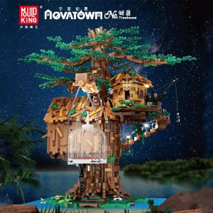 MOULDKING 16033 Tree House with Light - MOULD KING