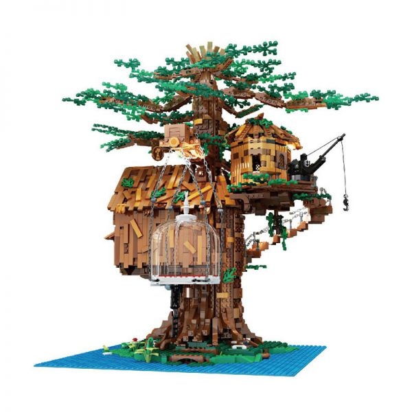 MOULDKING 16033 Tree House with Light 4 - MOULD KING