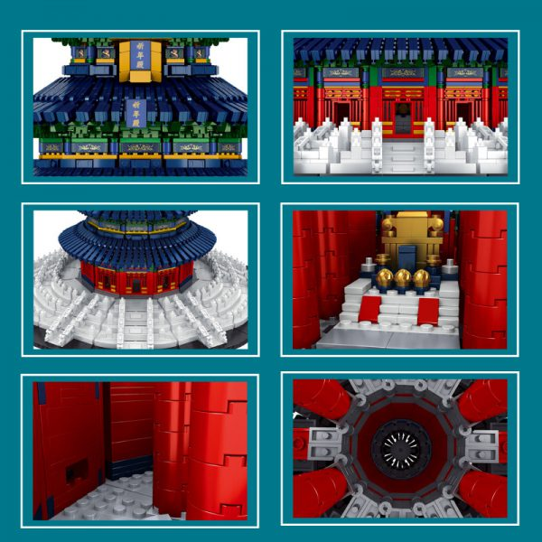 MOULDKING 22009 Famous building Beijing Temple of Heaven Praying Hall 3 - MOULD KING