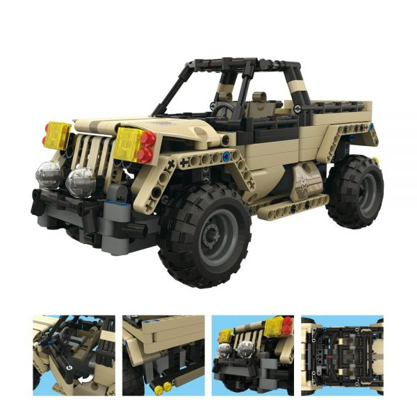 Mould King Technic Series 13013 495pcs Armored Union Military Pickup Truck Building Blocks brick kids toys 2 - MOULD KING