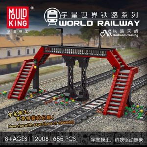 MOULDKING 12008 World Railway Railroad Crossing with 655 pieces