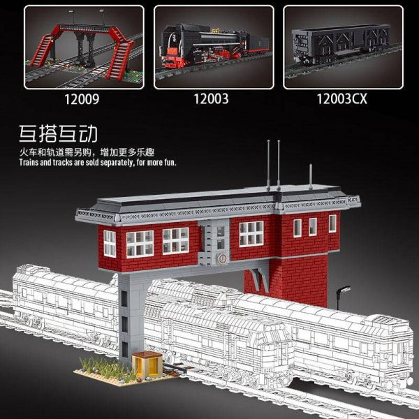 MOULDKING 12009 World Railway: Train signal station with 1809 pieces