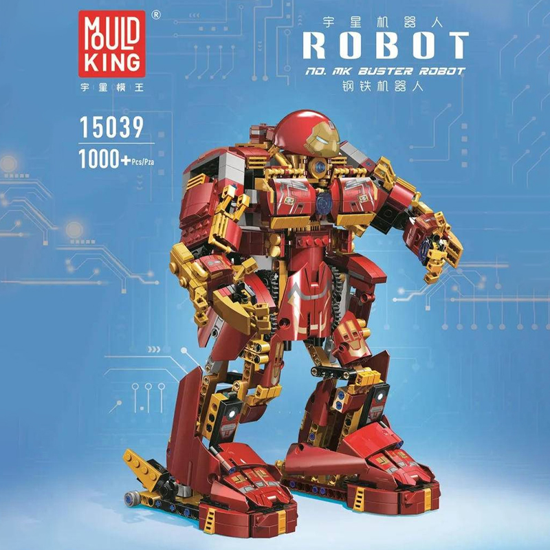 MOULDKING 15039 Buster Robot with 1000 pieces