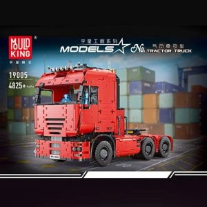 MOULDKING 19005 MOC-2475 Pneumatic Tractor Truck with 4825 pieces