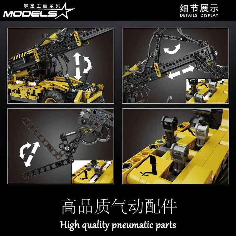 MOULDKING 19009 Pneumatic Telescopic Forklift with 803 pieces