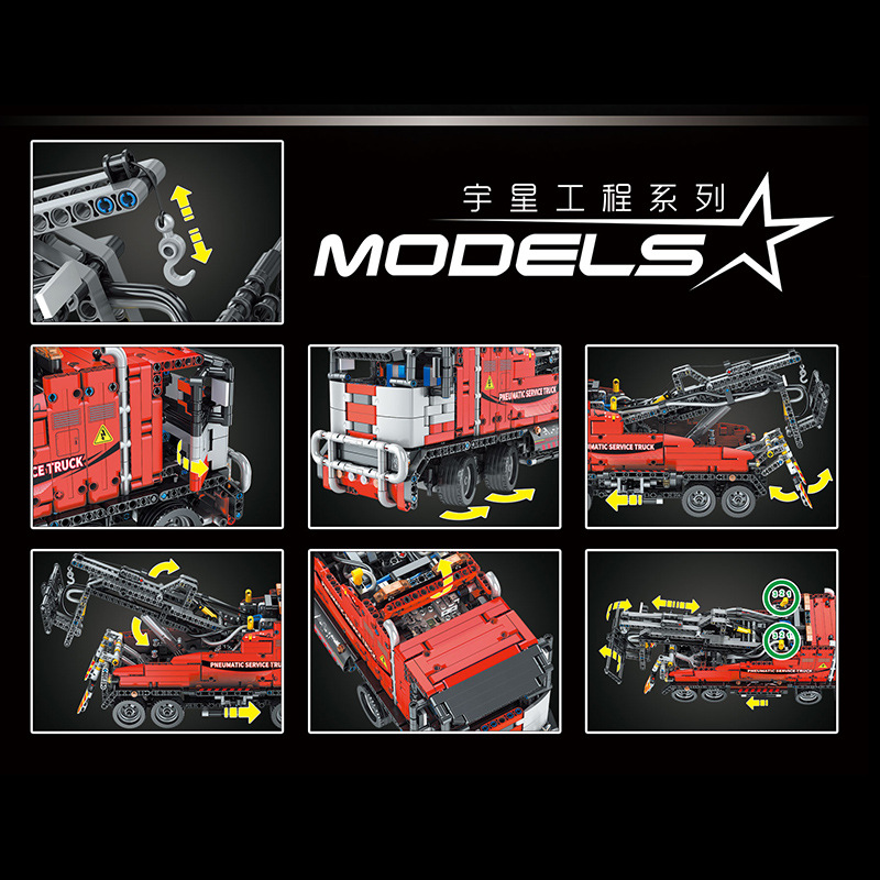 MOULDKING 19001 Pneumatic Service Truck with 1498 pieces