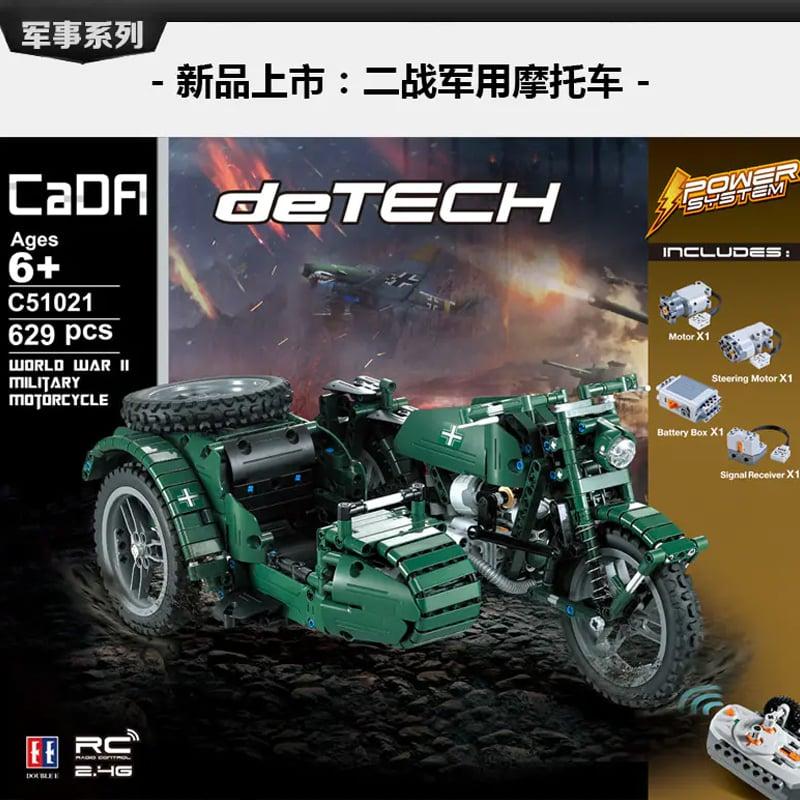 cada c51021 world war ii military three wheeled motorcycle 8129 - MOULD KING
