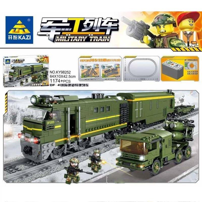 kazi ky98252 military train df 41 intercontinental ballistic missile train 4319 - MOULD KING