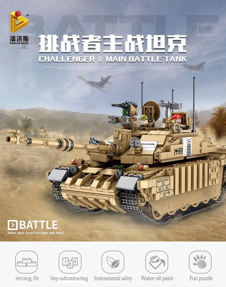 panlos 632008 military challenger 2 main battle tank 2748 - MOULD KING