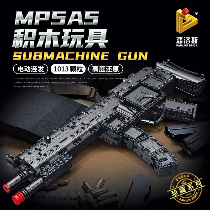panlos 670014 mp5a5 submachine gun 6126 - MOULD KING