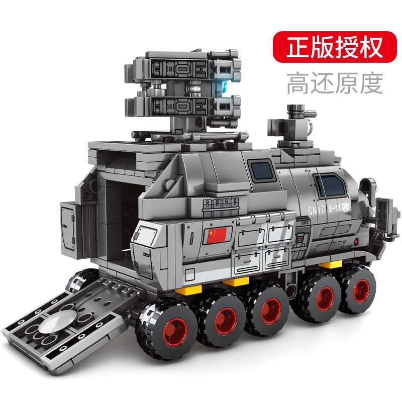 sembo 107027 wandering earth es series cn171 personnel carrier military truck 1061 - MOULD KING