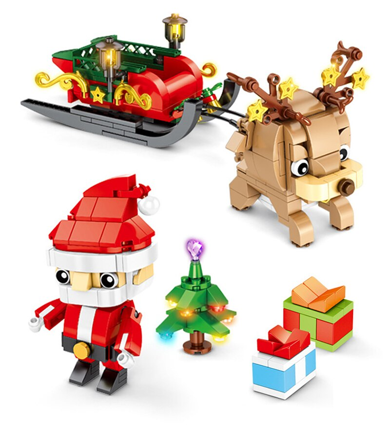 sembo 601091 christmas santa claus and reindeer 4106 - MOULD KING