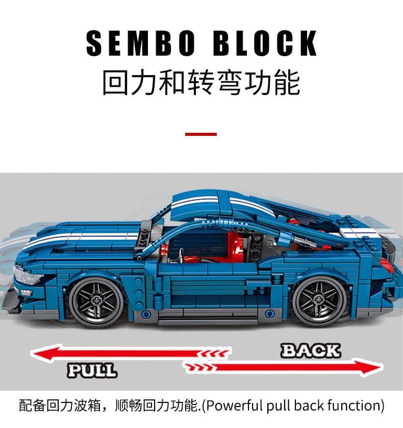 sembo 701710 frad mustang racing car 6019 - MOULD KING