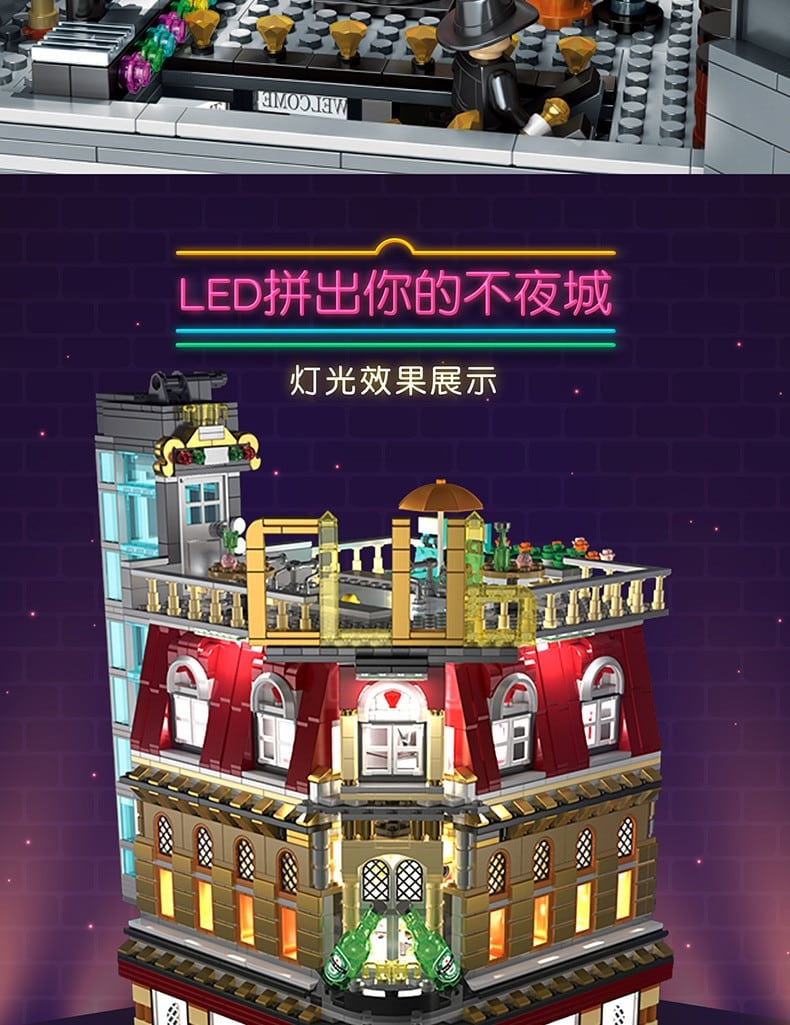 sembo sd6991 5 in 1 street night semboclub with led light usb 4978 - MOULD KING
