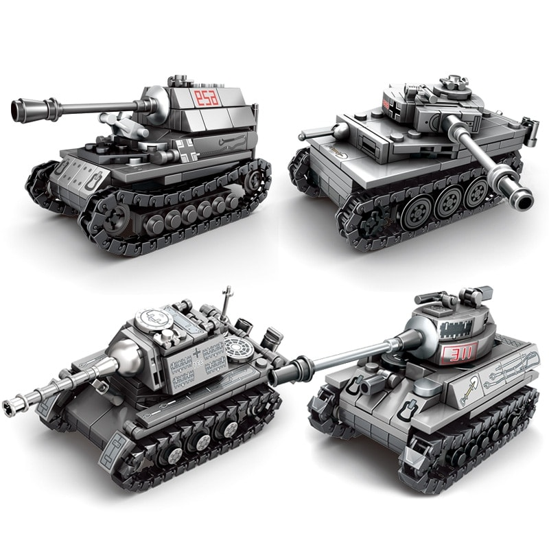 sy 101213 101216 4 in 1 ww2 germany tank military vehicles 1785 - MOULD KING