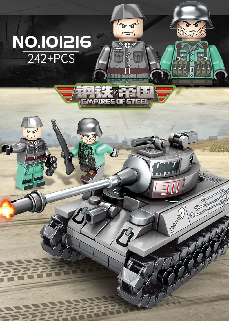 sy 101213 101216 4 in 1 ww2 germany tank military vehicles 5918 - MOULD KING