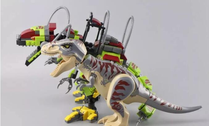 sy 1410 compatible with moc 75938 t rex vs dino mech battle jurassic world movie 1070 - MOULD KING