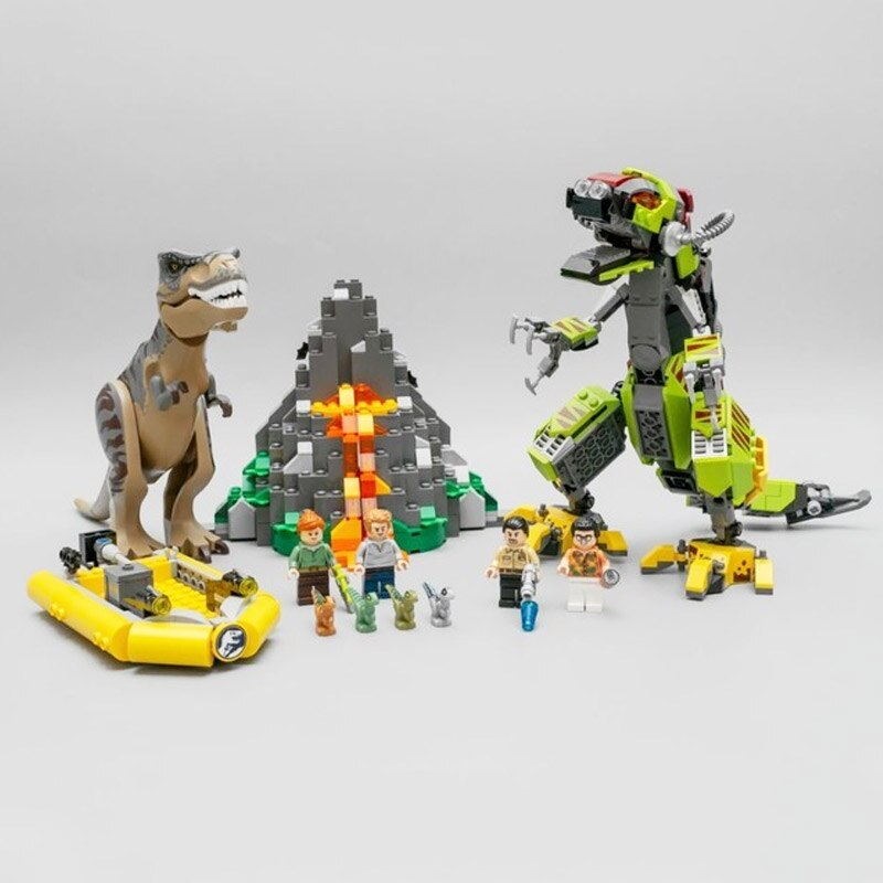 sy 1410 compatible with moc 75938 t rex vs dino mech battle jurassic world movie 6886 - MOULD KING
