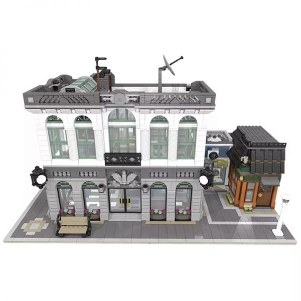 MOC 10811 Brick Bank with Coffee Shop Modular Buildings by dagupa MOC FACTORY 2 - MOULD KING