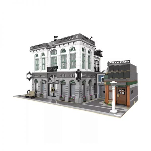 MOC 10811 Brick Bank with Coffee Shop Modular Buildings by dagupa MOC FACTORY 3 - MOULD KING