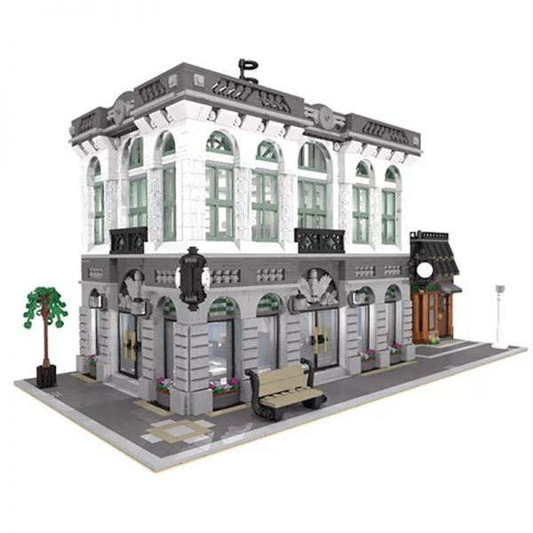 MOC 10811 Brick Bank with Coffee Shop Modular Buildings by dagupa MOC FACTORY 4 - MOULD KING