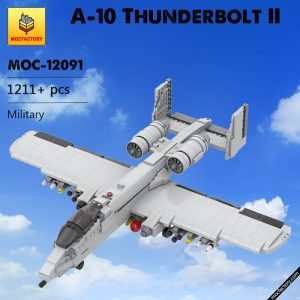 MOC 12091 A 10 Thunderbolt II Military by DarthDesigner MOC FACTORY - MOULD KING