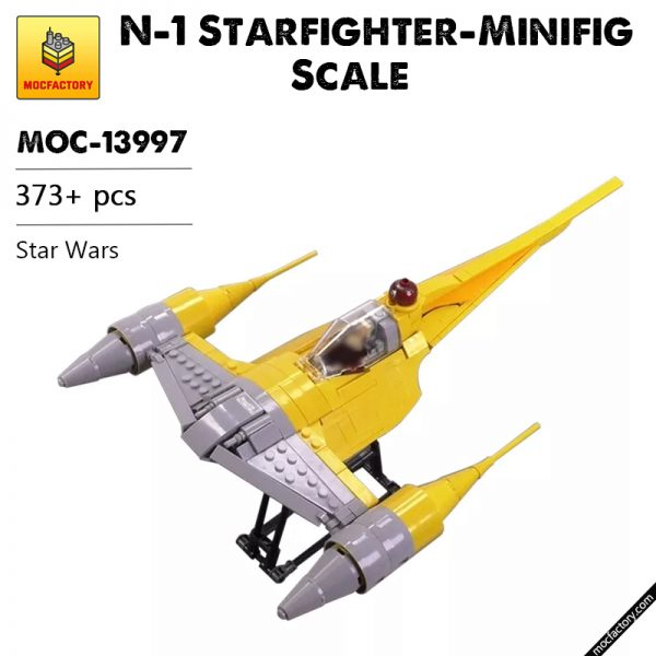 MOC 13997 N 1 Starfighter Minifig Scale Star Wars by brickvault MOC FACTORY - MOULD KING