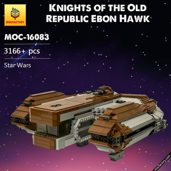 MOC 16083 SW Knights of the Old Republic Ebon Hawk Star Wars by CRCT Productions MOC FACTORY - MOULD KING
