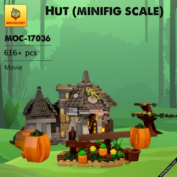MOC 17036 Hut minifig scale Movie by Brickproject MOC FACTORY - MOULD KING