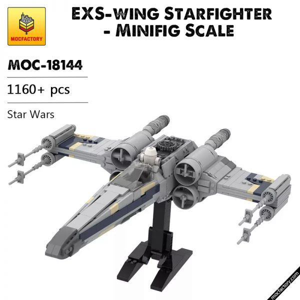 MOC 18144 EXS wing Starfighter Minifig Scale in Star Wars by brickvault MOC FACTORY - MOULD KING