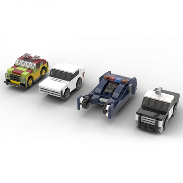 MOC 19467 Dimension Style Iconic Movie TV Cars Creator by MOMAtteo79 MOC FACTORY 2 - MOULD KING