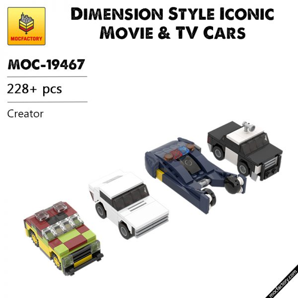 MOC 19467 Dimension Style Iconic Movie TV Cars Creator by MOMAtteo79 MOC FACTORY - MOULD KING