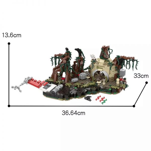 MOC 19522 Dagobah playset Star Wars by IScreamClone MOC FACTORY 2 - MOULD KING