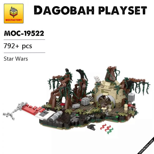 MOC 19522 Dagobah playset Star Wars by IScreamClone MOC FACTORY - MOULD KING