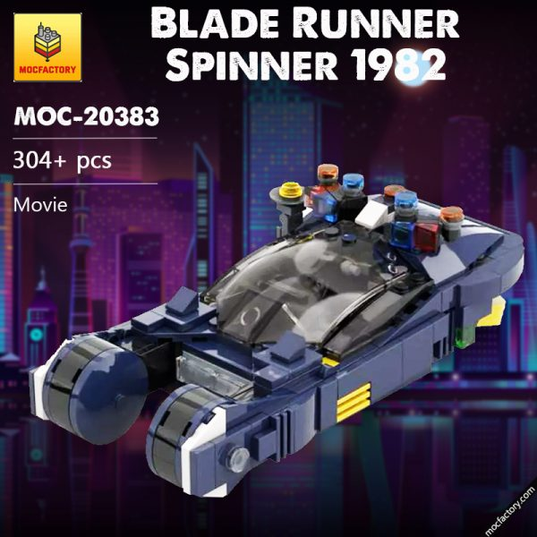 MOC 20383 Blade Runner Spinner 1982 Movie by MOMAtteo79 MOC FACTORY - MOULD KING