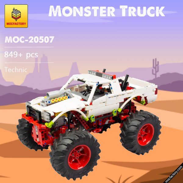 MOC 20507 Monster Truck Off road Car by Nico71 MOC FACTORY - MOULD KING