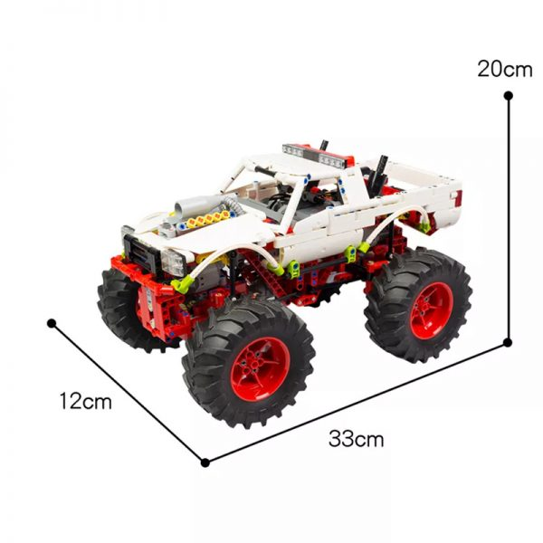 MOC 20507 Monster Truck Off road Car by Nico71 MOC FACTORY 7 - MOULD KING