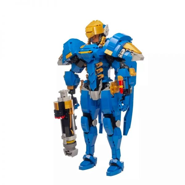 MOC 21722 Overwatch Pharah Super Hero by buildbetterbricks MOC FACTORY 2 - MOULD KING