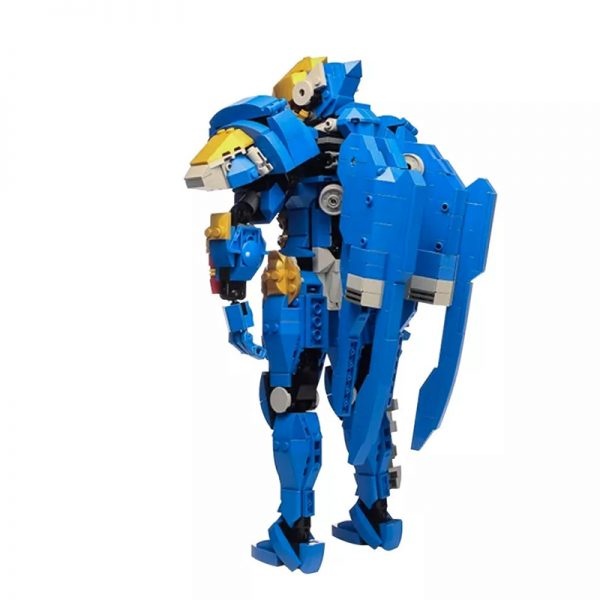 MOC 21722 Overwatch Pharah Super Hero by buildbetterbricks MOC FACTORY 4 - MOULD KING
