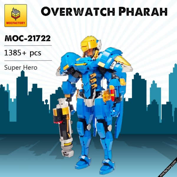 MOC 21722 Overwatch Pharah Super Hero by buildbetterbricks MOC FACTORY - MOULD KING