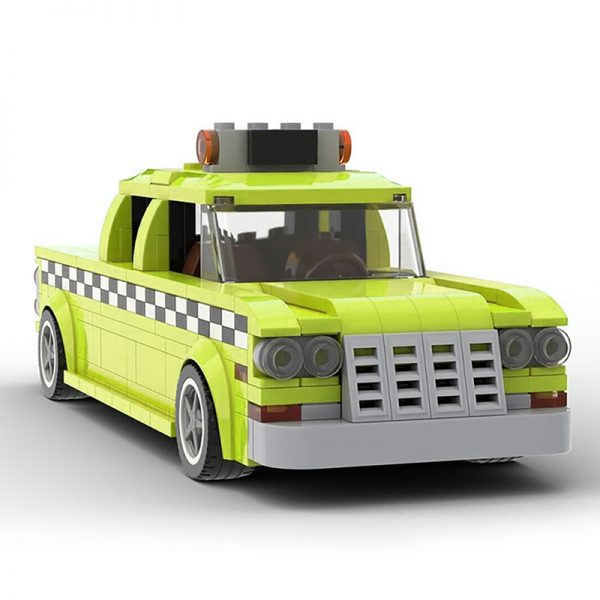 MOC 22002 Taxi Driver 1975 NYC Checker Taxi Cab Technic by mkibs MOC FACTORY 2 - MOULD KING