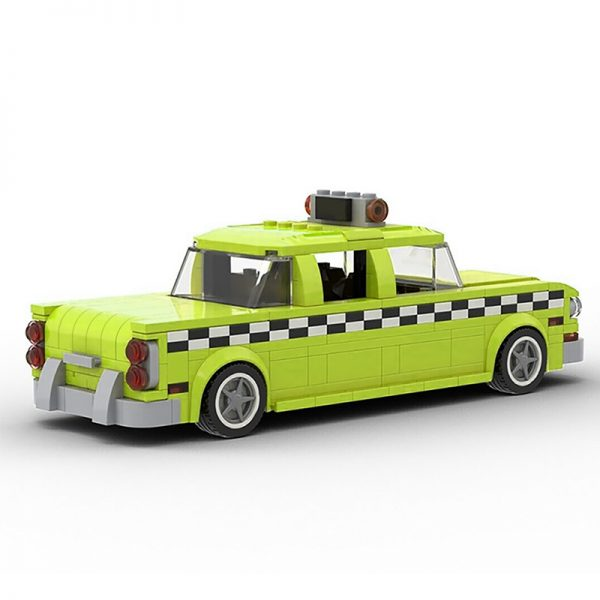 MOC 22002 Taxi Driver 1975 NYC Checker Taxi Cab Technic by mkibs MOC FACTORY 3 - MOULD KING
