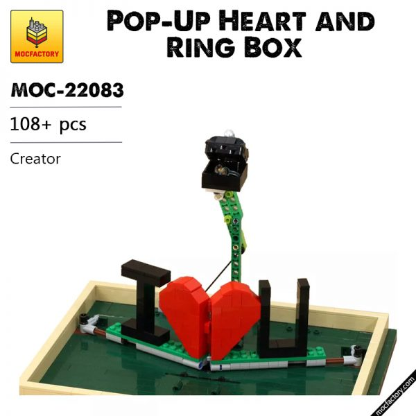 MOC 22083 Pop Up Heart and Ring Box Creator by JKBrickworks MOC FACTORY - MOULD KING